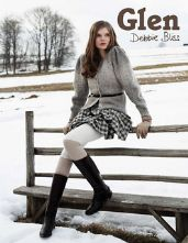 Glen Chunky Collection by Debbie Bliss. Book features 12 Designs for Chunky Weight Yarn